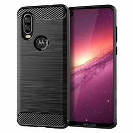Etui CARBON Motorola One Vision Black