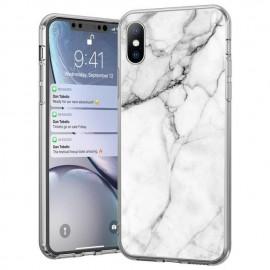 Etui Marble Huawei Mate 30 Lite White