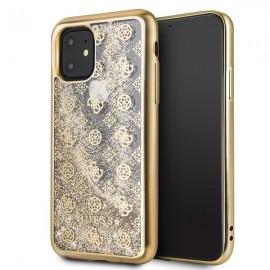 Etui Guess do iPhone 11 4G Peony Liquid Glitter Gold