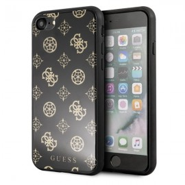Etui Guess do Iphone 7 / 8 Peony G Double Layer Glitter Black
