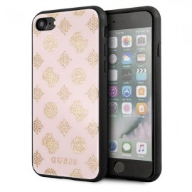Etui Guess do Iphone 7 / 8 Peony G Double Layer Glitter Pink