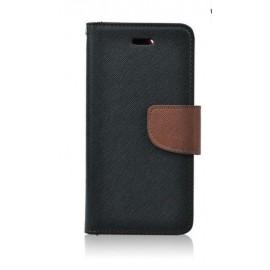 Etui Fancy Book Samsung Galaxy S7 G930 Black / Brown