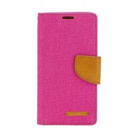 Etui Canvas Book Huawei P Smart 2019 Pink / Brown