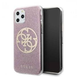 Etui Guess do iPhone 11 Pro 4G Circle Glitter Pink