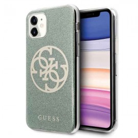 Etui Guess do iPhone 11 4G Circle Glitter Khaki