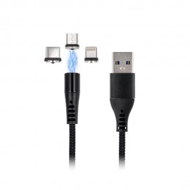 Magnetyczny Kabel USB Baseus Zinc Lightning 1m 2.4A Black