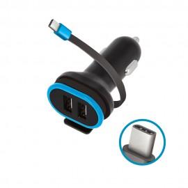 Ładowarka Samochodowa Forever 2xUSB 3A z kablem USB Typ C