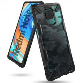 Etui Rearth Ringke Xiaomi Note 9S / Redmi Note 9 Pro Fusion-X Camo Moro Black