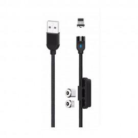 Magnetyczny Kabel USB 3w1 XO-NB128 Black
