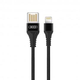 Kabel USB Lightning XO-NB118 Nylon Black 1m