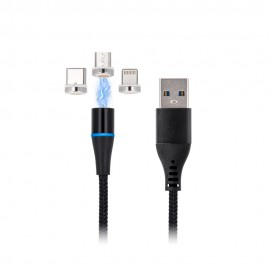 Magnetyczny Kabel USB Maxlife 3w1 MXUC-02 2A 1m