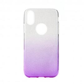 Etui Shining do Samsung Galaxy M31 M315 Clear/Violet