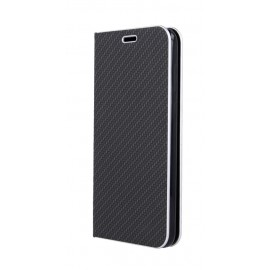 Etui Luna Book do Xiaomi Redmi 9 Black Silver Carbon