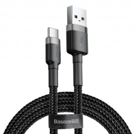 Kabel USB Typ C - USB Typ C 5A 2m Baseus Cafule PD 2.0 100W Black Grey