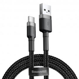 Kabel USB Typ C 2A 3m Baseus Cafule CATKLF-UG1 Black Grey