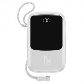 Bateria Zewnętrzna POWER BANK Baseus Qpow 10000mAh + kabel USB Typ C White (PPQD-A02)