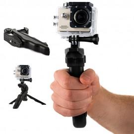 Uchwyt z mini statywem do kamer sportowych GoPro SJCAM Black