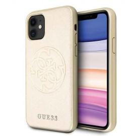Etui Guess do iPhone 11 4G Circle Logo Gold
