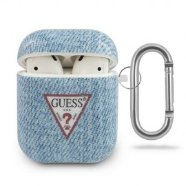 Etui Guess do Słuchawek Airpods / Airpods 2 Jeans Light Blue