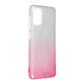 Etui SHINING do Samsung Galaxy A41 A415 Clear/Pink