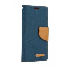 Etui Canvas Book do Iphone 12 MINI Navy Blue / Brown
