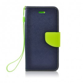 Etui Fancy Book do Samsung Galaxy A21 A215 Dark Blue / Lime