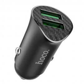 Ładowarka Samochodowa HOCO 2 x USB QC3.0 18W Farsighted Z39 Black