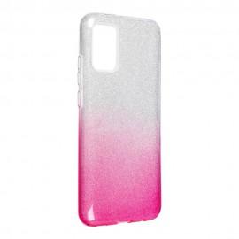 Etui SHINING do Samsung Galaxy A02s A025 Clear/Pink