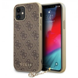 Etui Guess do iPhone 12 Mini 4G Charms Brown