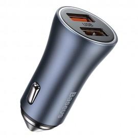 Ładowarka Samochodowa Baseus 2x USB 40 W QC Golden Contactor Pro