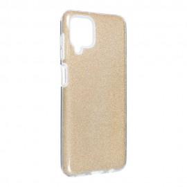 Etui Shining do Samsung Galaxy A12 A125 / M12 Gold