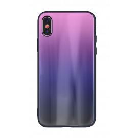 Etui Aurora Glass do Xiaomi Redmi 9T / Poco M3 Pink Black