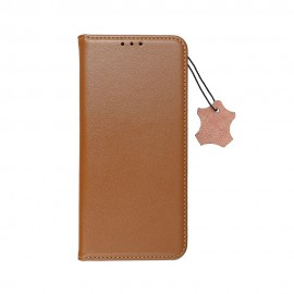 Etui Leather Smart Pro Book do Samsung Galaxy A22 5G A226 Brown