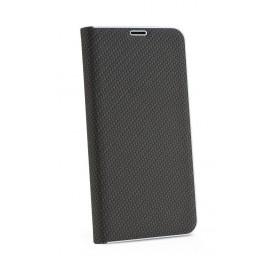 Etui Luna Book do Samsung Galaxy A72 A725 Carbon Black Silver