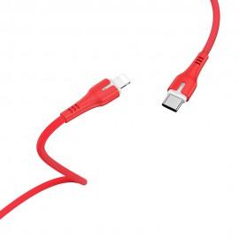 Kabel USB Typ C - Lightning Hoco 8W X45 1m Red