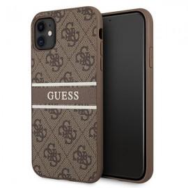 Etui Guess do iPhone 11 Hardcase 4G Stripe Brown