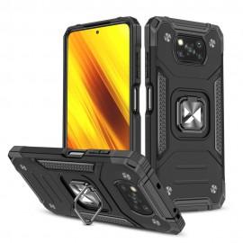 Etui Wozinsky do Xiaomi Poco X3 NFC / X3 Pro Ring Armor Black